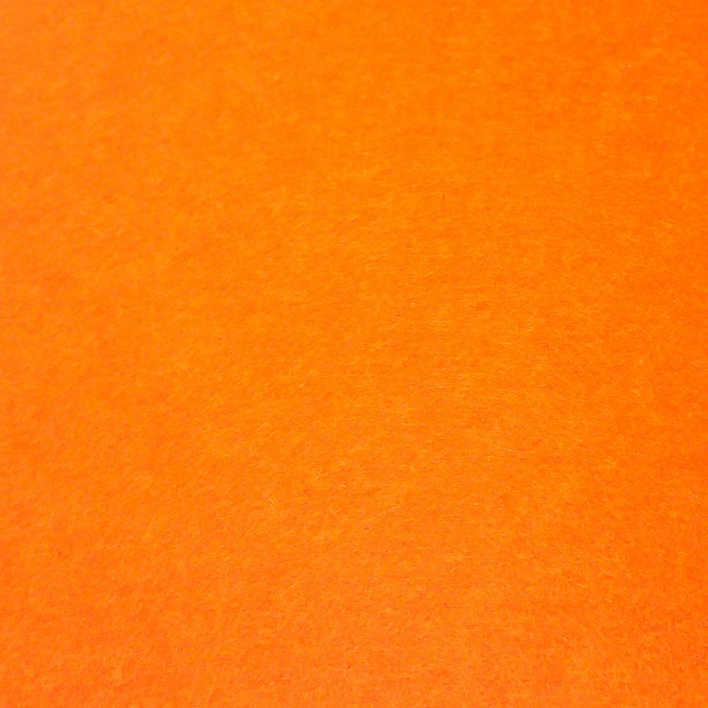 Фетр жесткий 3 мм, полиэстер, ЯРКО-ОРАНЖЕВЫЙ (супер жесткий), 1 х 1 м, на метраж