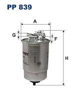 Фильтр топливный VW 1.6,1.9D,1.9TD,1.9TDI 87- с подогревом 191127401E