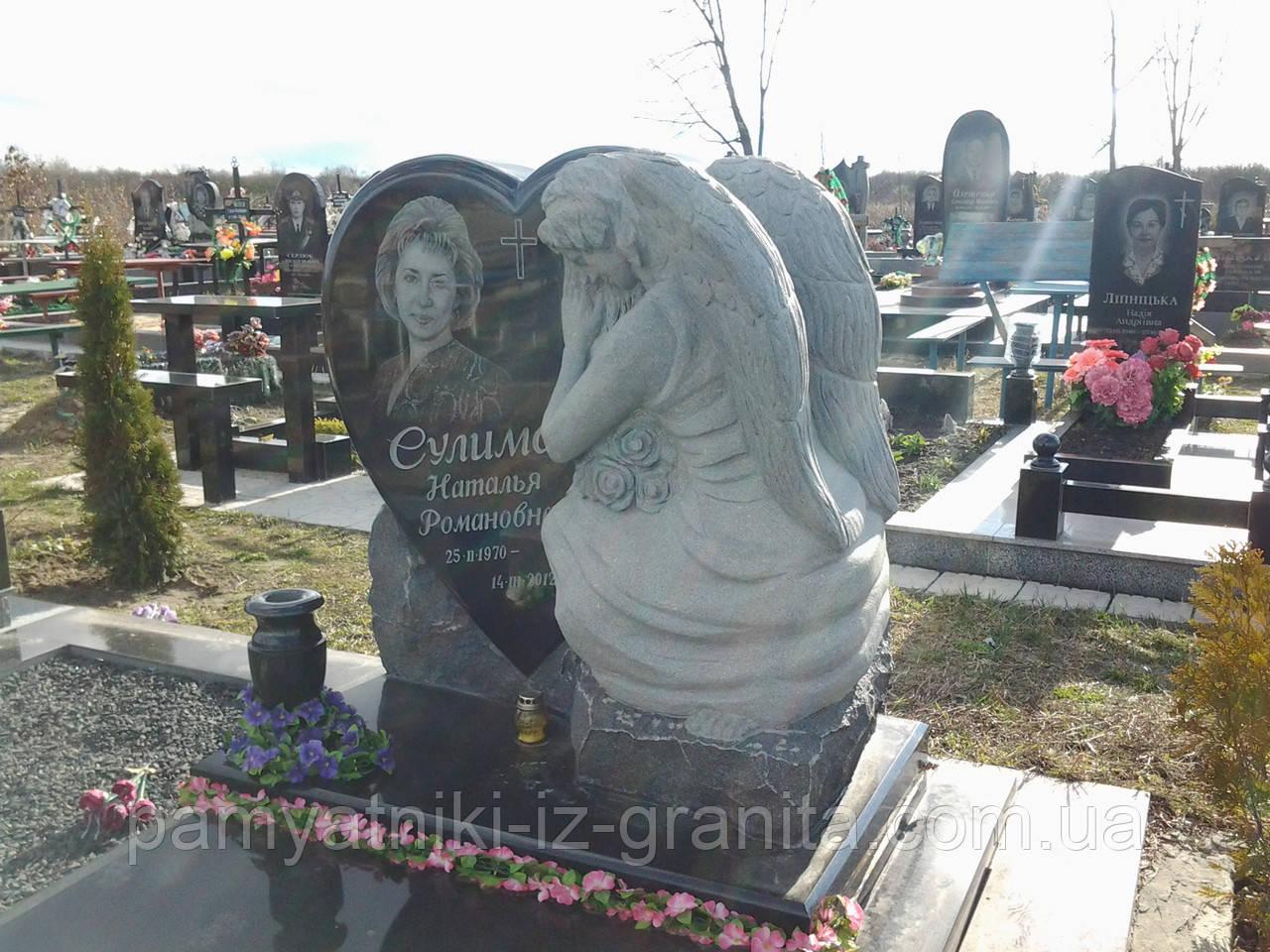 Скульптура барельеф ангела из гранита № 41