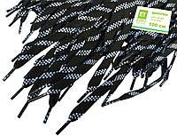 Шнурки для обуви (100см) плоские, цвет: пестрый-черный, фото 1