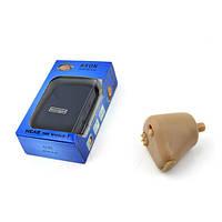 Внутриушной слуховой аппарат во встроенным аккумулятором, 4 видами насадок и регулировкой усиления (AXON K-88)