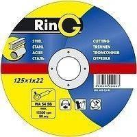 Круги отрезные по металлу 41 14А 230х1,6х22,23 RinG