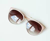 Очки женские от солнца Chrome hearts пудровые, модные очки