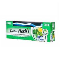 Зубная паста- Мята и Лимон – Свежий гель Dabur Herb'l 150г + щетка