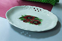 Тарелка керамическая Ажур, малая