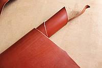 Натуральная кожа для кожгалантереи рыжего цвета арт. СК 2071