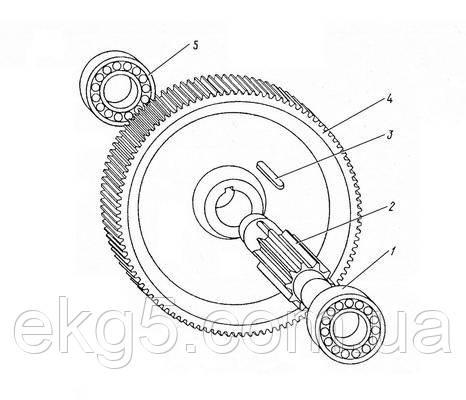 Блок на редуктор механизма поворота экскаватора ЭКГ-5 чертеж 1080.16.01сб(запчасти к экскаватору ЭКГ-5)