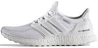 Мужские кроссовки Adidas Ultra Boost Triple-White, адидас