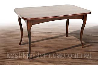 Стол обеденный Мартин орех темный раскладной массив клена 130(+40)*78 см