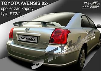 Спойлер тюнинг Toyota Avensis