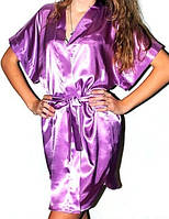 Атласный женский халатик кимоно. В розницу и оптом красивые халатики атлас. Украина., фото 1