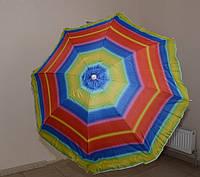 Зонт для торговли HZT/N-8: 1,8 м, металлические спицы, заостренное основание, чехол для переноски