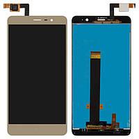 Дисплей (экран) для телефона Xiaomi Redmi Note 3, Redmi Note 3 Pro + Touchscreen Original Gold