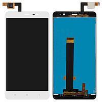 Дисплей (экран) для телефона Xiaomi Redmi Note 3, Redmi Note 3 Pro + Touchscreen Original White