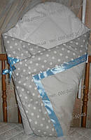 """Конверт-плед-одеяло на выписку новорожденного """"Атласная лента"""""""