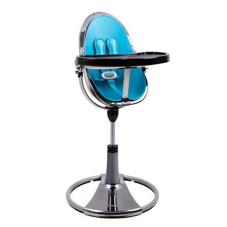 "Cтульчик для кормления «Bloom» ""Fresco"" цвет ""Chrome Mercury"", вкладыши ""Bermuda Blue"" (E10516-BBL-1, фото 2"