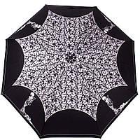 Необычный женский зонт автомат ZEST (ЗЕСТ) Z23849-9008 (черный)