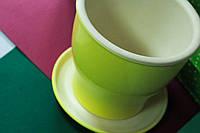 Керамический цветочный горшок Тюльпан, средний