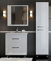Комплект мебели для ванной комнаты Альфа СОТА белый