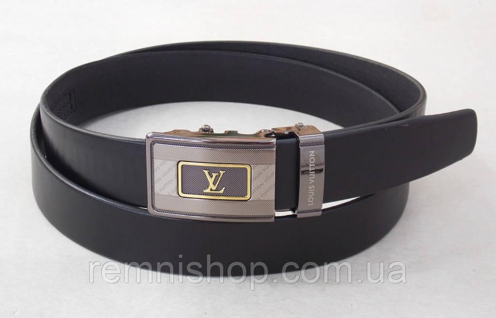 Мужской кожаный ремень-автомат Louis Vuitton
