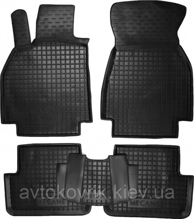 Полиуретановые коврики в салон Renault Megane II 2002-2009 (AVTO-GUMM)