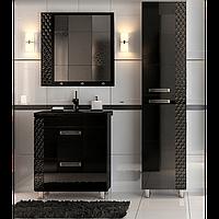 Комплект мебели для ванной комнаты Альфа СОТА черный
