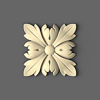 Резная розетка деревянная 60х60