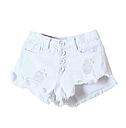 Шорты женские джинсовые (белые), фото 3
