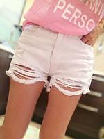 Шорты женские джинсовые (белые), фото 1