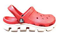 Женские Crocs Duet Sport Clog (крокс, кроксы) красные