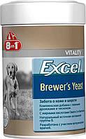 Витамины 8 в 1 для кожи и шерсти собак, кошек Excel Brewers Yeast  260таб (185ml)