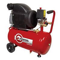 Компрессор 24 л, 2 HP, 1,5 кВт, 220 В, 8 атм, 206 л/мин INTERTOOL PT-0010