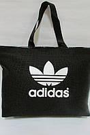 Сумка  женская Adidas (19946) черно-белая код 0407 А