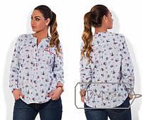 Женская рубашка большого размера е-202182