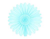 Вертушки из тишью для декора 30 см. нежно-голубая