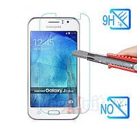 Защитное стекло для экрана Samsung Galaxy J1 Ace (j110) твердость 9H, 2.5D (tempered glass)