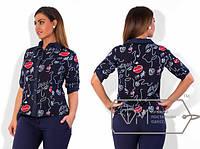 Женская блузка больших размеров е-202187