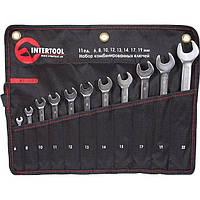 Набор комбинированных ключей 11шт 6-22 мм INTERTOOL XT-1003