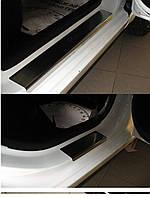 Накладки на пороги Kia Rio III 2011- 4шт. premium