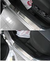 Накладки на пороги Kia Sportage II 2004- 4шт. premium
