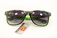 Очки wayfarer черный+зеленый, фото 1