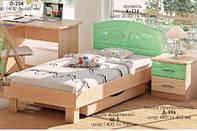 Кровать односпальная К-115, К-116