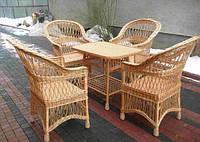 Плетеная мебель из лозы в кафе и ресторан