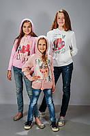 Вязанная кофта для девочки хлопок
