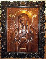 Икона резная большая Божья Матерь Умиление 80*60 см