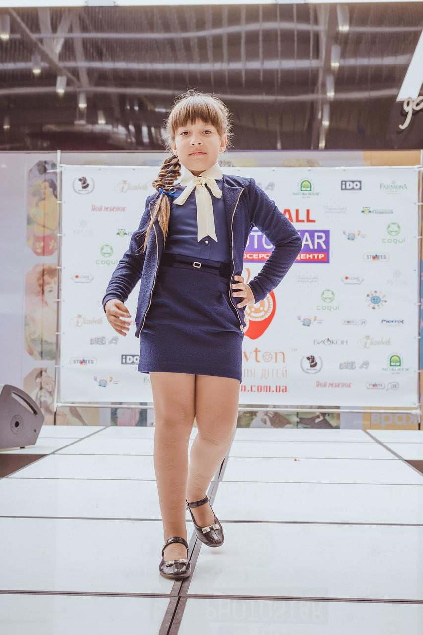 Модный школьный жакет для девочки