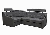 """Угловой диван """" Элегант 3 люкс """" «Savana Dk Grey 11″ (Угол взаимозаменяемый)"""
