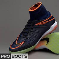 Детские сороконожки Nike HypervenomX Proximo TF Junior Navy Blue