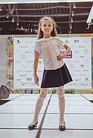 Юбка школьная для девочек в складку, фото 1