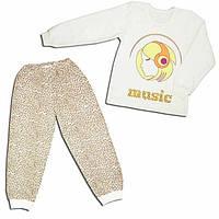 Детская утепленная пижама для девочки  МУЗЫКА  р 116 см